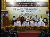 Part 5  T Vimala and T V Raman Pai, Hostel Block Foundation Stone Laying Ceremony, October 10,2010