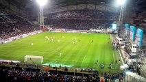 Bronca Olympique de Marseille-Lille OSC Pause Sortie des joueurs 1ERE MI TEMPS 20/04/14