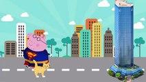 Peppa Pig Superman Finger Family Pepa Pig superman finger family nursery rhymes and more lyrics vide