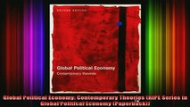READ book  Global Political Economy Contemporary Theories RIPE Series in Global Political Economy Full EBook