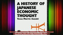 READ book  History of Japanese Economic Thought Nissan InstituteRoutledge Japanese Studies Full EBook