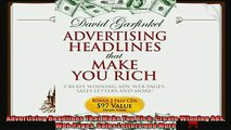 there is  Advertising Headlines That Make You Rich Create Winning Ads Web Pages Sales Letters and