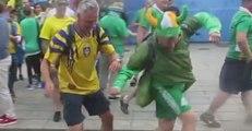 Irish Fan Shows Great Technique Against Swedish Fans