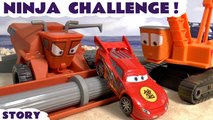Disney Cars NINJA CHALLENGE --- Lightning McQueen and other Disney Cars characters in this Race Toy Story as they escape Frank and the Crane, Featuring Spiderman, The Avengers, Batman, Angry Birds, Star Wars and many more family fun toy
