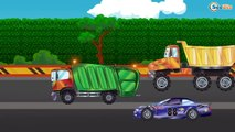✔ Cars Cartoons Compilation for kids / Trucks and Racing Car – race in the maze with obstacles ✔