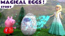 FROZEN MAGIC EGGS --- Join Queen Elsa and Olaf from Disney Frozen as they help make Surprise Eggs for Princess Anna's Birthday, Featuring Minions, Peppa Pig, Hello Kitty, The Little Mermaid and many more family fun toys