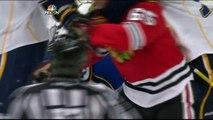 Ryan Miller knucklepuck toenail save St. Louis Blues vs Chicago Blackhawks Blues 3/19/14 NHL Hockey.