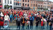 Binche : superbe ambiance à l'écran géant lors de Belgique - Irlande