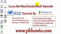 Lesson # 6 Subscript, Superscript (Learn MS word Urdu Hindi Tutorials)