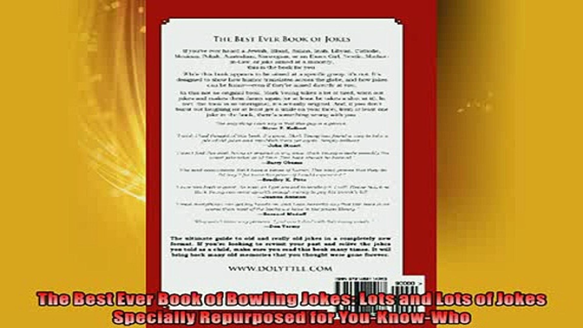 READ book  The Best Ever Book of Bowling Jokes Lots and Lots of Jokes Specially Repurposed for READ