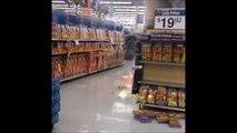 Un rayon de pétards en feu au supermarché... OUPS
