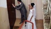 Пьяные муж и жена возвращаются домой. Смеялся до слёз!