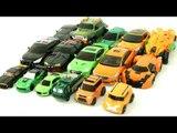 Green Orange Black Color  Transformers Carbot Tobot  Car Toys 초록색 검정색 주황색 카봇 또봇 트랜스포머 자동차 장난감 변신 동영상