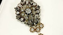 3.04 ct Diamond and 19 ct Yellow Gold Brooch - Antique Austro-Hungarian Circa 1900 - AC Silver W8779
