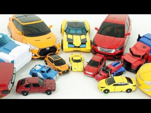 Transformers Carbot Transformation Robot Cars Toys 트랜스포머 헬로카봇 미니와 큰 자동차 장난감 변신 동영상