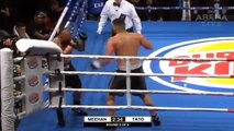 Horrible Referee Doesn't Stop A Brutal Beating and Boxer Loses it on him!