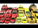 Yellow Red Color Transformers Carbot Tobot Robot Car Toys 노란색  빨간색 카봇 또봇 미니특공대 트랜스포머 자동차 장난감 변신 동영상