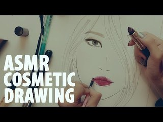 한국어 ASMR 수다떨며 : 화장품으로 그림그리기 Drawing Facechart   (Binaural)