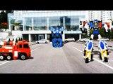 헬로카봇 경찰차 프론 vs 또봇R 소방차 vs 미니특공대 볼트봇 장난감 자동차 동영상 CarBot Tobot MiniForce transforming car toys