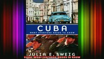 DOWNLOAD FREE Ebooks  Cuba What Everyone Needs to Know Full EBook