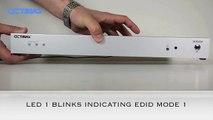 EDID Mode 1 Programming Instructions-Octava 3x8 HDMI Distribution Amp