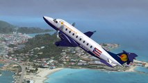 Flight Simulator X FSX PMDG Beechcraft 1900D TNCM St Maarten
