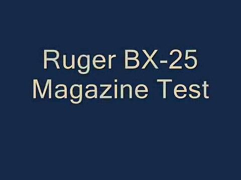 Ruger BX-25 Magazine Test
