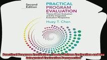 different   Practical Program Evaluation TheoryDriven Evaluation and the Integrated Evaluation