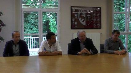 FC Metz - Présentation à la presse de Yann Jouffre