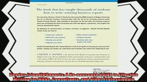 complete  ReaderFriendly Reports A Nononsense Guide to Effective Writing for MBAs Consultants and