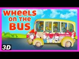 The Wheels On The Bus Goes Round and Round - Nursery Rhymes For Kids