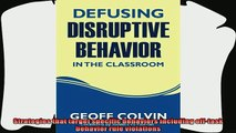 different   Defusing Disruptive Behavior in the Classroom