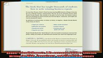 behold  ReaderFriendly Reports A Nononsense Guide to Effective Writing for MBAs Consultants and