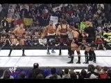 The Rock, Kane and Hulk Hogan vs NWO