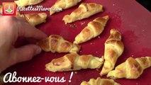 Mini Croissants Feuilletés au Fromage - Cheese Stuffed Mini Pastry Croissants - كرواسون بالجبن