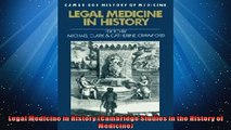 EBOOK ONLINE  Legal Medicine in History Cambridge Studies in the History of Medicine  FREE BOOOK ONLINE