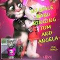 DJ wale babu song talking Tom and Angela singing song very cute