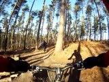 Surrey Hills pt 1. Barry Knows Best Surrey Hills downhill MTB run from GoPro HD chest cam