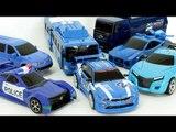 Blue Color Carbot Tobot Miniforce Robot Transformation Car Toys 파란색 헬로카봇 또봇 미니특공대 엑스포머 자동차 장난감  동영상
