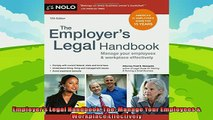 different   Employers Legal Handbook The Manage Your Employees  Workplace Effectively