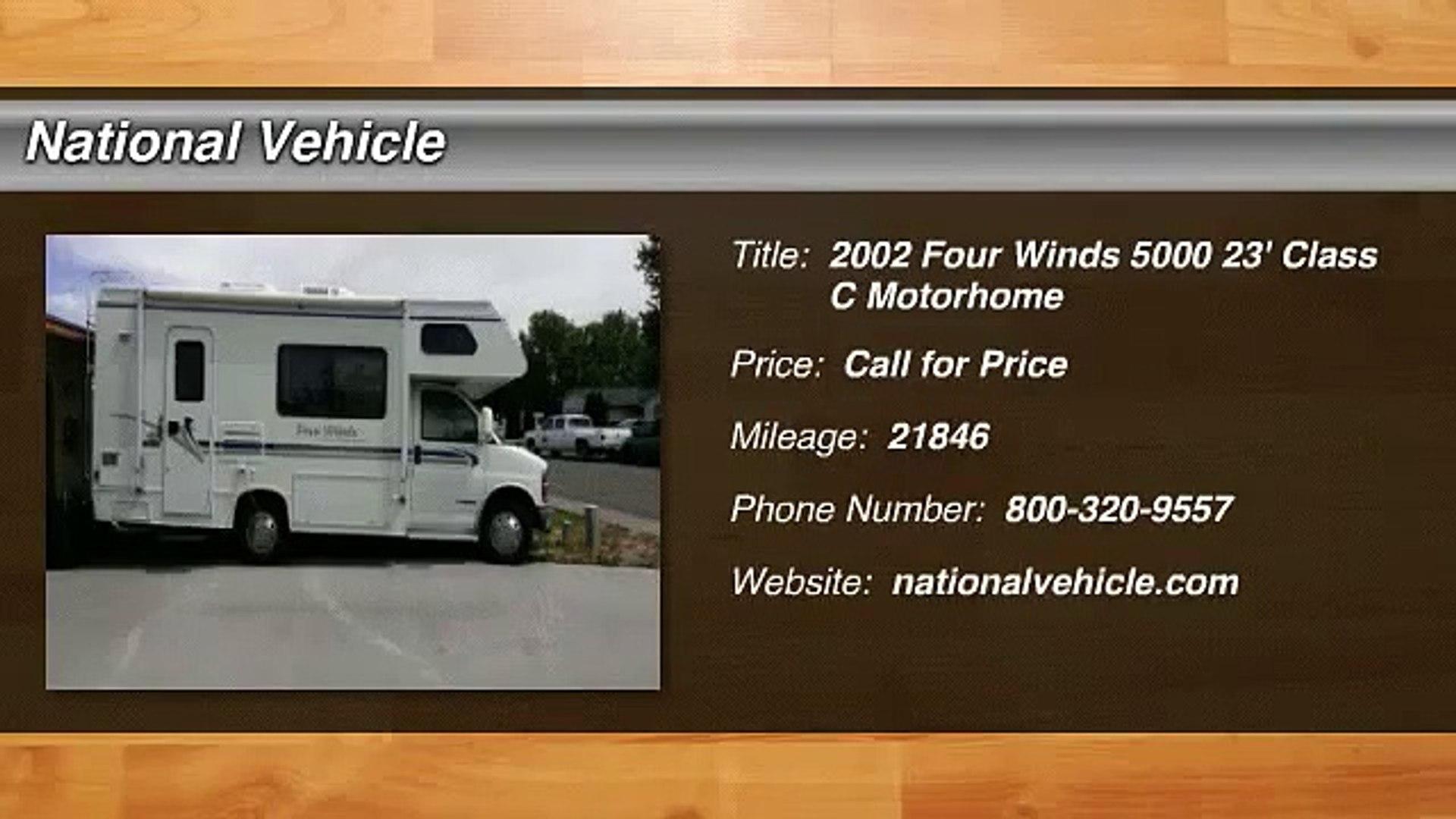 2002 Four Winds 5000 23' Class C Motorhome c544120