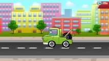 ✔ Monster Truck and Racing Car. Race with obstacles in the city / Car Cartoons for kids ✔