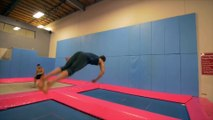 Trampoline Wall Tricks at Parkour & Freerunning Academy! ¦ People are Awesome