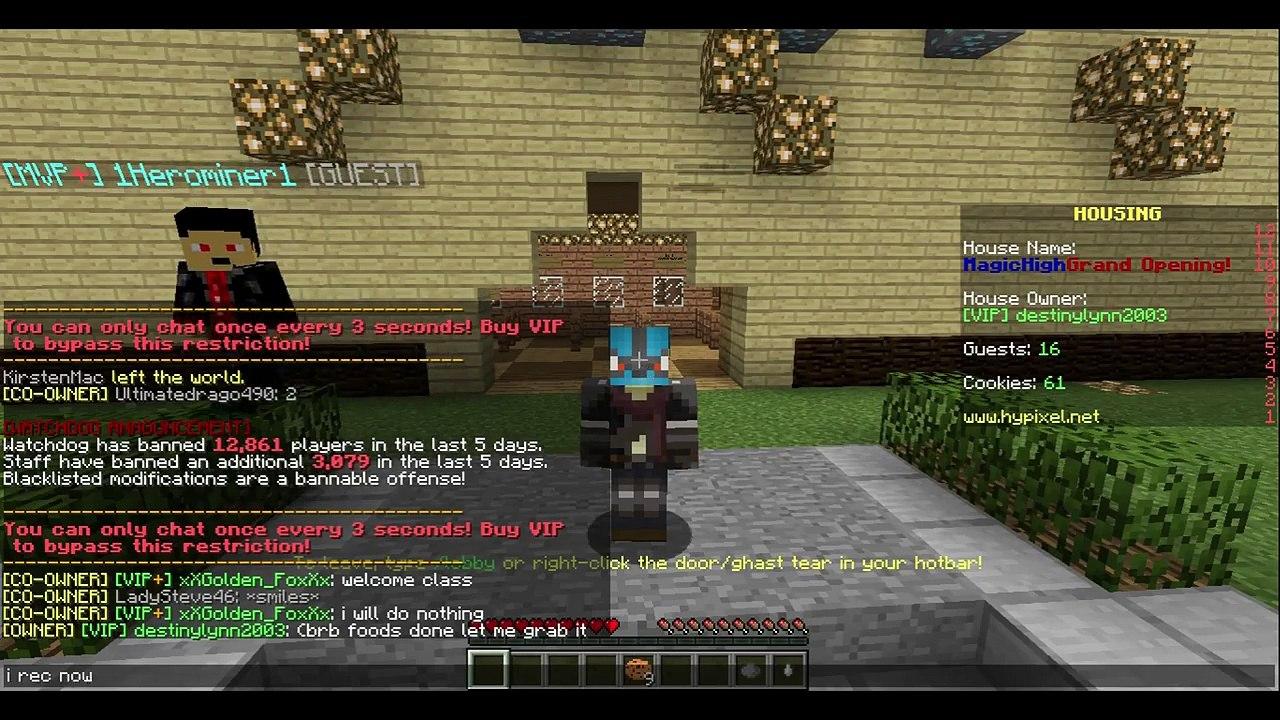 MAGIC SCHOOL GRANDOPENING! l Minecraft Hypixel Housing