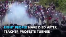 8 dead after police violence against teachers in Oaxaca, Mexico