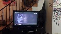 Maylo le petit chien, regarde un film d'horreur et prend peur !