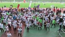 Reportage jeunes officiels unss 91 sur les 7ème jeux sportifs des collèges au stade Robert Bobin de BONDOUFLE
