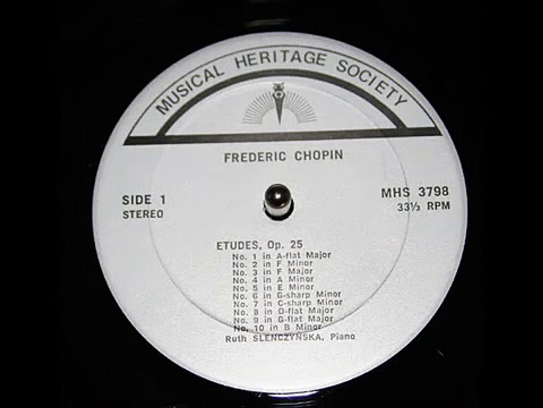 Chopin / Ruth Slenczynska, 1971: Etude, Op  25 No  3 in F major