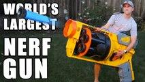 Ils construisent le plus grand pistolet Nerf du monde