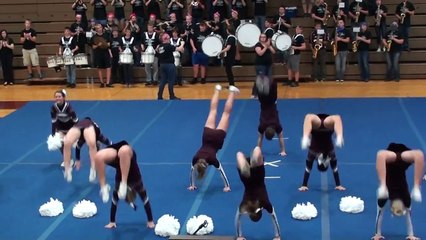 Rockridge Rockets Cheerleading Football at Homecoming  Pep Rally 9/25/14